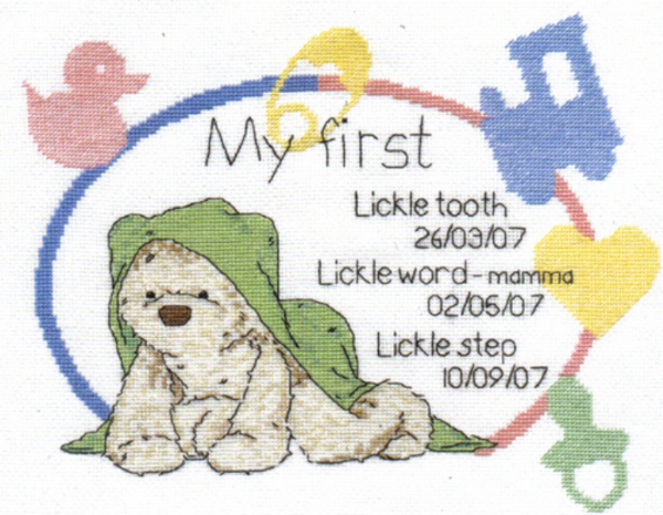 Lickle Ted  Precious Lickle Moments Cross Stitch Kit